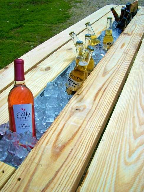 Pinterest Finds picnic table idea